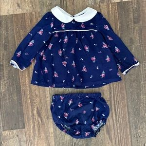 Janie and Jack Blue Floral Outfit